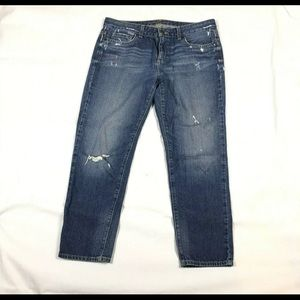 Michael Kors 8 Womens Jeans Medium Wash Destroyed